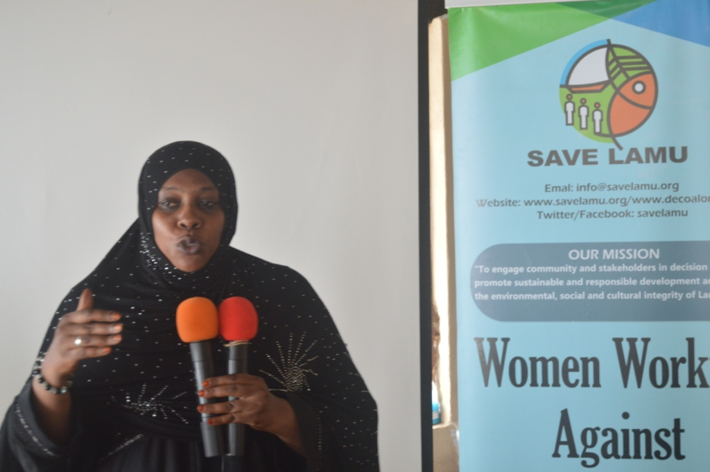 LAMU WOMEN, TALK ON THE PROPOSED COAL PLANT IN LAMU AT A NATIONAL TELEVISION STATION