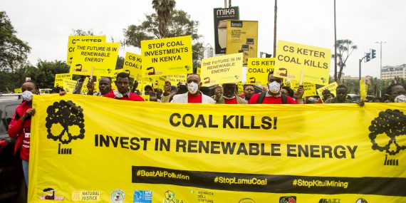 Lamu Community, deCOALonize campaign team protest in Nairobi against coal project